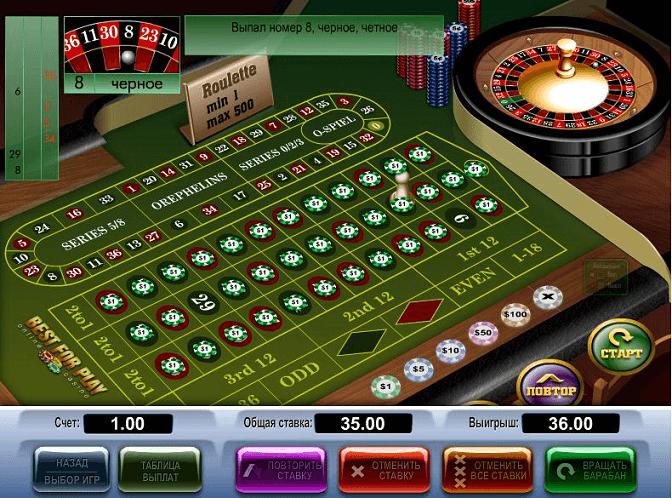 казино без регистрации рулетка интернет